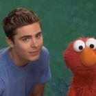 Zac Efron e Elmo no Sesame Street / Reprodução
