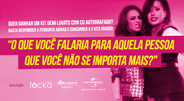 Concurso Cultural Demi Lovato / Equipe de promoção