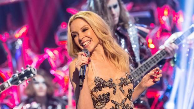 Kylie Minogue durante apresentação / Divulgação